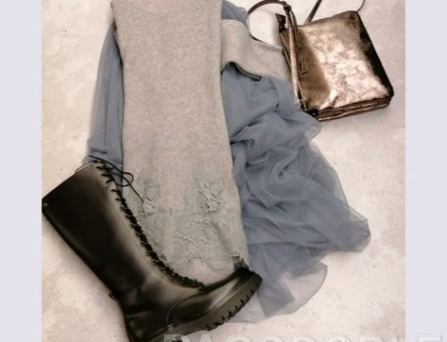 Falda de tul y botas militares