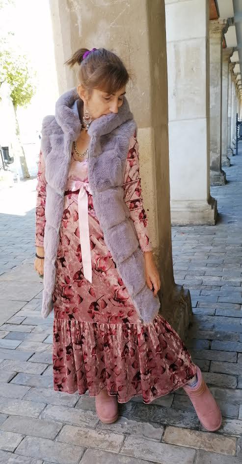 Vestido largo estampado de Pasodoble en Palencia.