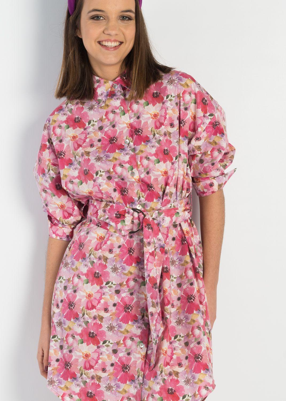 Vestido camisero estampado flores en Pasodoble Palencia