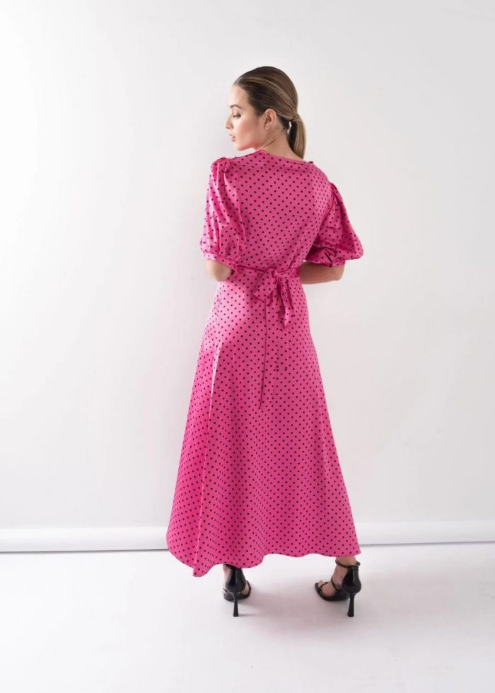 Vestido largo topos en Pasodoble Palencia