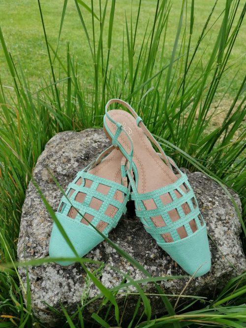 Zapato mule turquesa de Pasodoble en Palencia