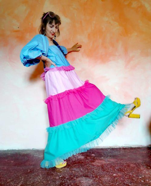 vestido volantes oversize de Pasodoble en Palencia