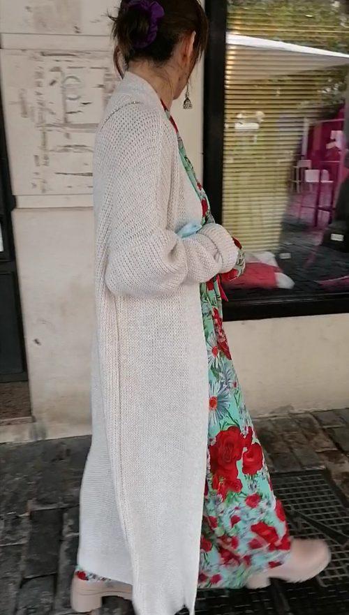Maxi chaqueta en punto de Pasodoble en Palencia.