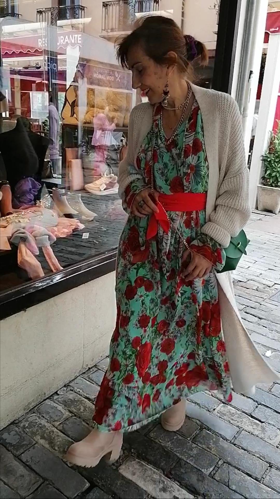 vestido estampado estilo boho de Pasodoble en Palencia.