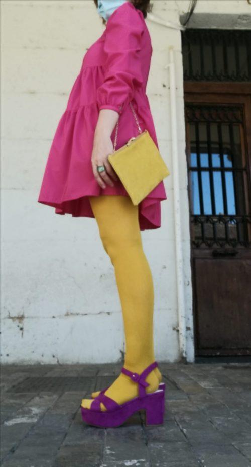 Vestido rosa de Pasodoble en Palencia