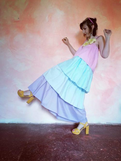 Vestido largo maxi-volantes de Pasodoble en Palencia
