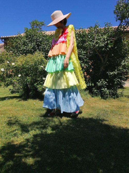Vestido volantes de colores de Pasodoble en Palencia